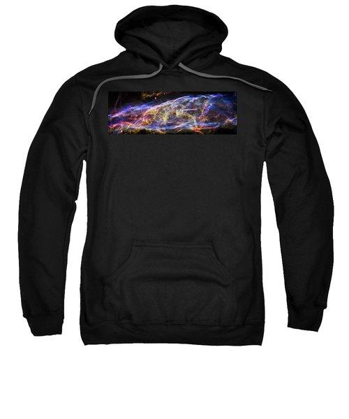Sweatshirt featuring the photograph Revisiting The Veil Nebula by Adam Romanowicz