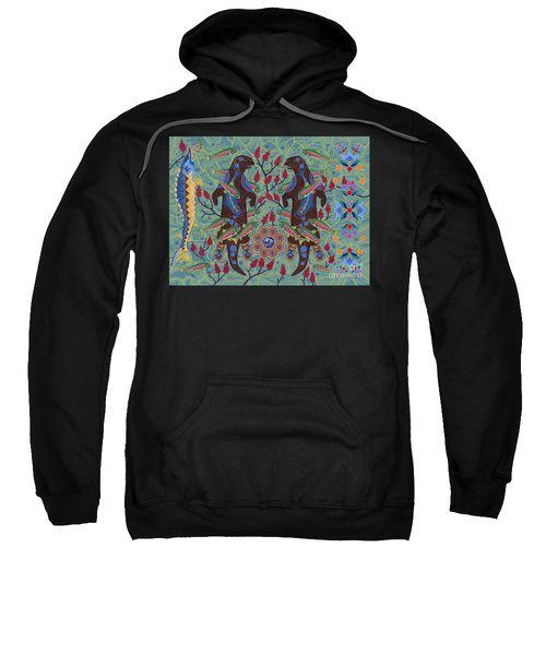 Sweatshirt featuring the painting River Spirit by Chholing Taha