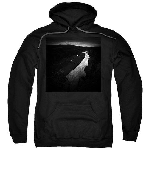 River In The Dark In Iceland Sweatshirt