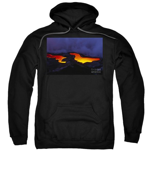 River Of Lava Sweatshirt by Peter French - Printscapes