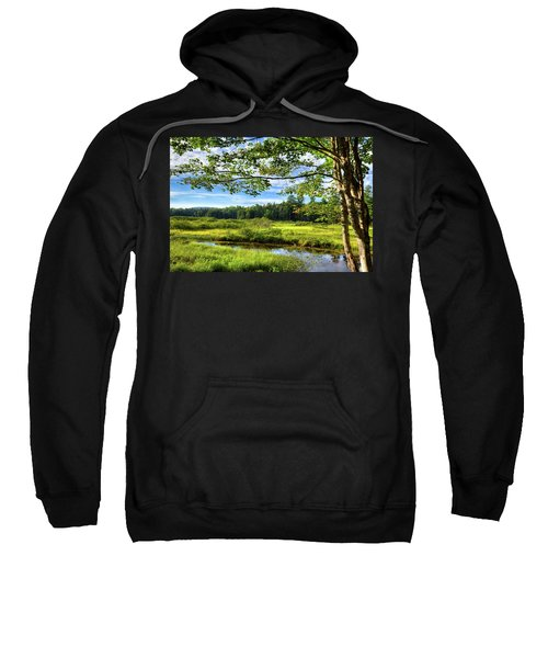 Sweatshirt featuring the photograph River Under The Maple Tree by David Patterson