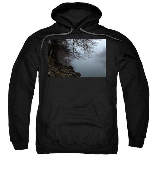 Riverbank In The Fog Sweatshirt