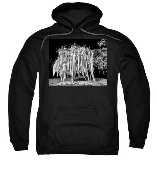Rolled Tree Blk N White Sweatshirt