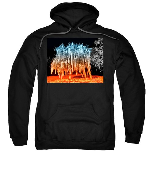 Rolled Tree Orangenblue Sweatshirt