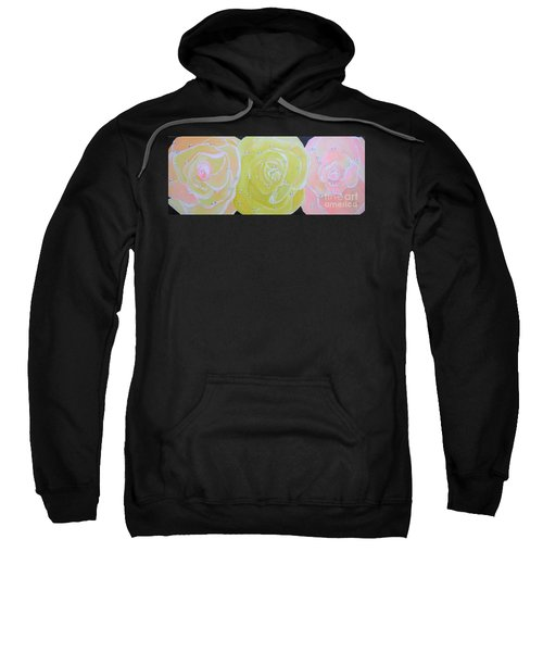 Rose Medley With Dewdrops Sweatshirt