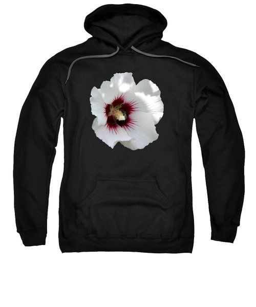 Rose Of Sharon Flower And Bumble Bee Sweatshirt