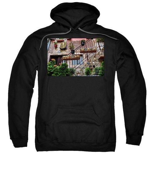 Rovinj Old Town Courtyard, Rovinj Croatia Sweatshirt
