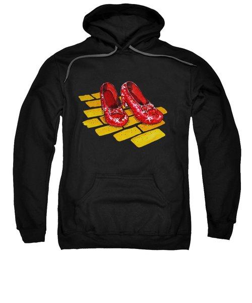 Ruby Slippers From Wizard Of Oz Sweatshirt by Irina Sztukowski