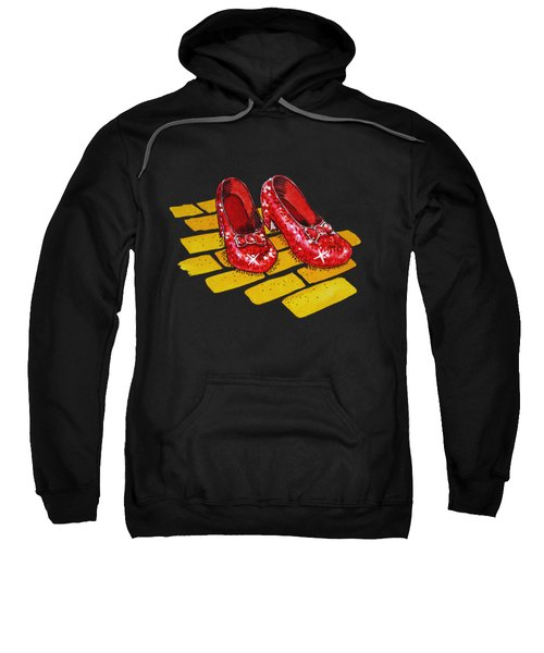 Ruby Slippers From Wizard Of Oz Sweatshirt