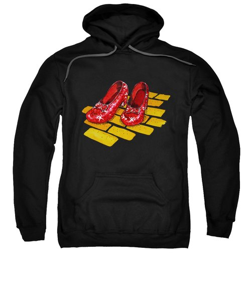 Ruby Slippers The Wonderful Wizard Of Oz Sweatshirt