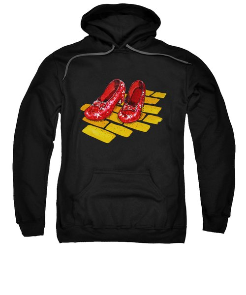 Ruby Slippers The Wonderful Wizard Of Oz Sweatshirt