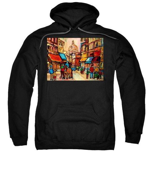 Rue St. Paul Old Montreal Streetscene Sweatshirt