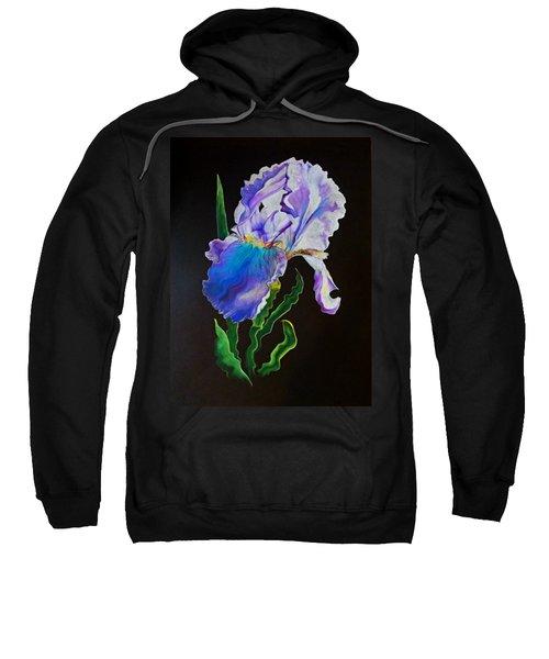 Ruffled Iris Sweatshirt