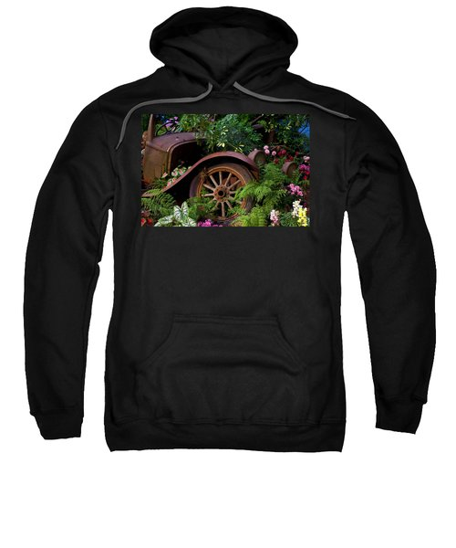 Rusty Truck In The Garden Sweatshirt