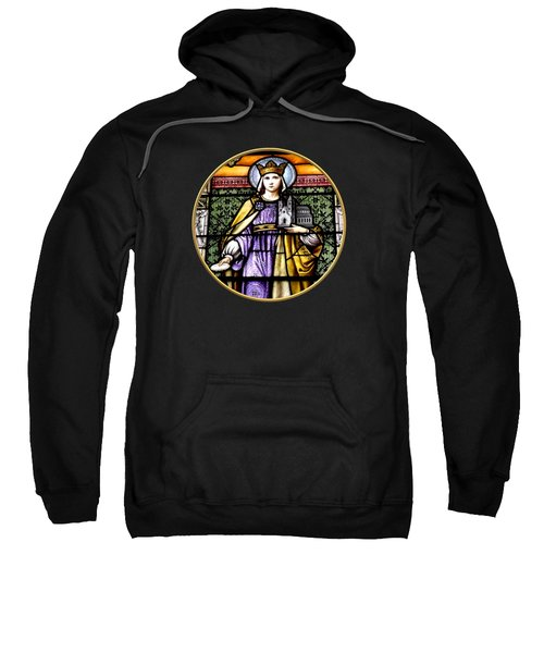 Saint Adelaide Stained Glass Window In The Round Sweatshirt by Rose Santuci-Sofranko