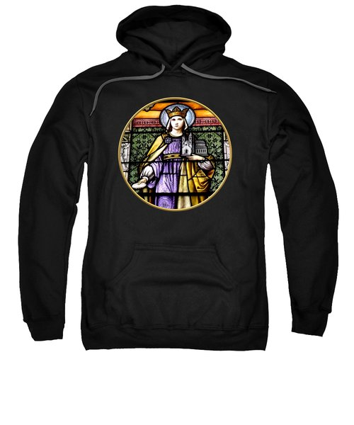 Saint Adelaide Stained Glass Window In The Round Sweatshirt