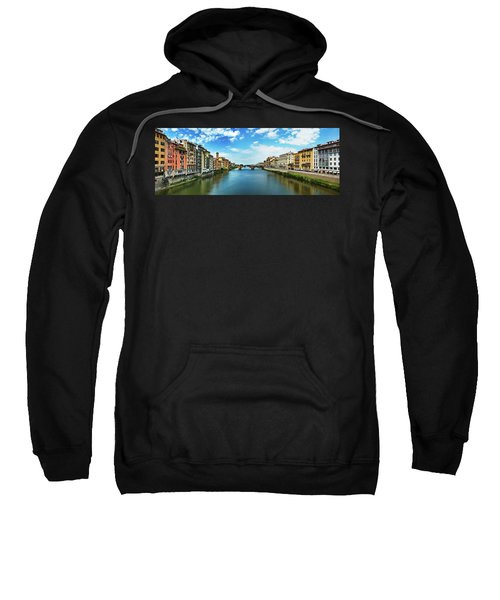 Saint Trinity Bridge From Ponte Vecchio Sweatshirt