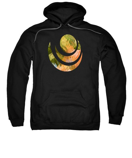 Salmon Mosaic Abstract Sweatshirt by Christina Rollo