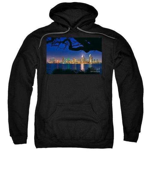 San Diego Skyline From Bay View Park In Coronado Sweatshirt