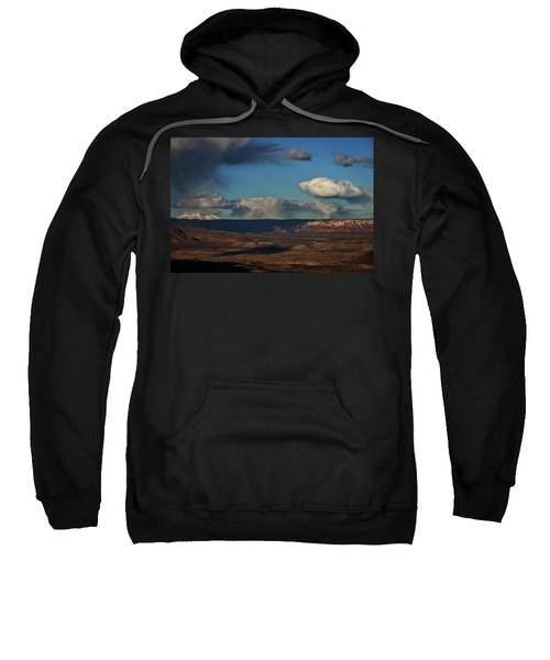 San Francisco Peaks With Snow And Clouds Sweatshirt