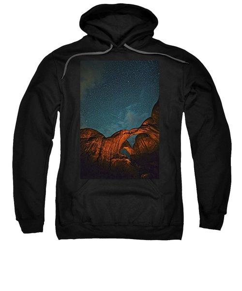 Satellites Crossing In The Night Sweatshirt
