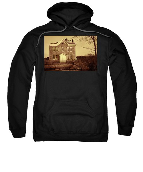 Saugerties Lighthouse Sepia Sweatshirt