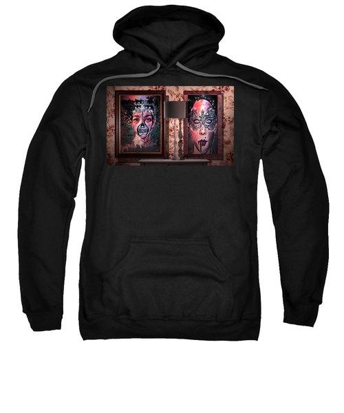 Scary Museum Wallart Sweatshirt