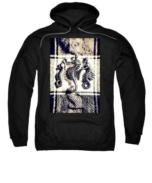 Seahorses In Blue Sweatshirt