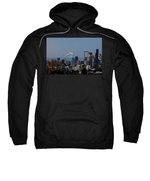 Seattle-mt. Rainier In The Morning Light .1 Sweatshirt