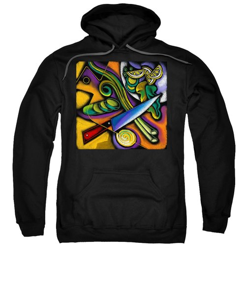Tasty Salad Sweatshirt by Leon Zernitsky