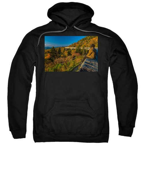 Seize The Day At Linn Cove Viaduct Autumn Sweatshirt