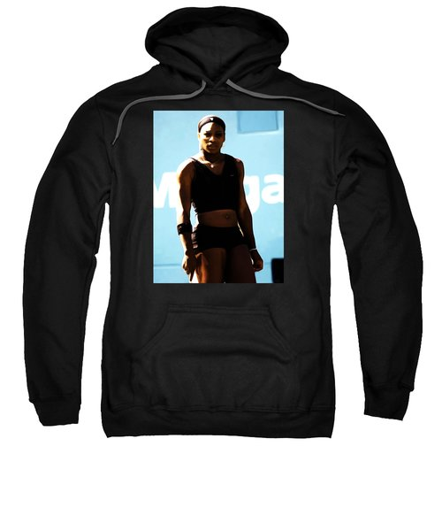 Serena Williams Match Point IIi Sweatshirt by Brian Reaves