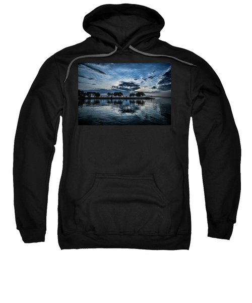 Serene Summer Water And Clouds Sweatshirt