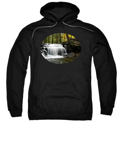 Serenity Waterfalls Landscape Sweatshirt by Christina Rollo