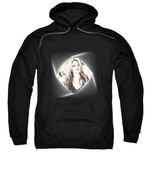 Shakira - Pencil Art Sweatshirt by Raina Shah