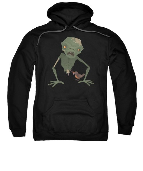 Sickly Zombie Sweatshirt by John Schwegel
