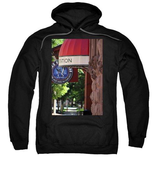 Sidewalk View Jazz Station  Sweatshirt