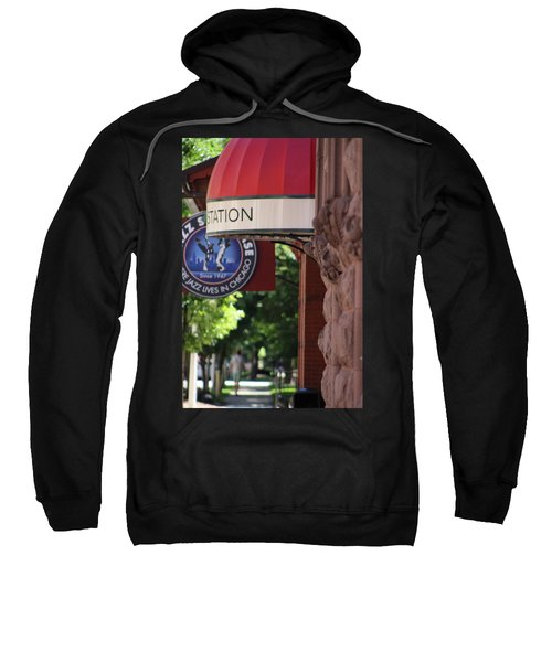 Sidewalk View Jazz Station  Sweatshirt