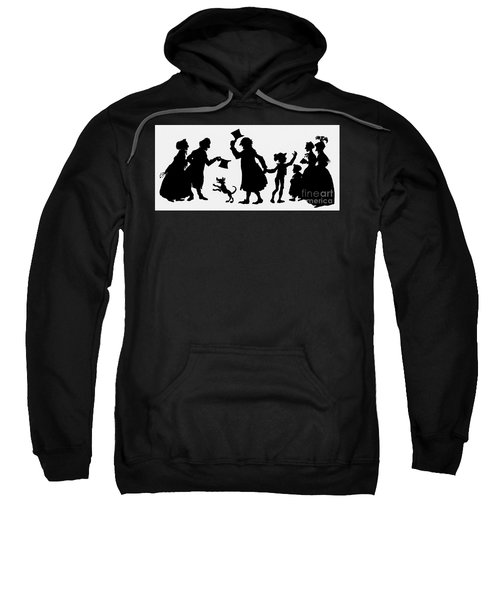 Silhouette Illustration From A Christmas Carol By Charles Dickens Sweatshirt