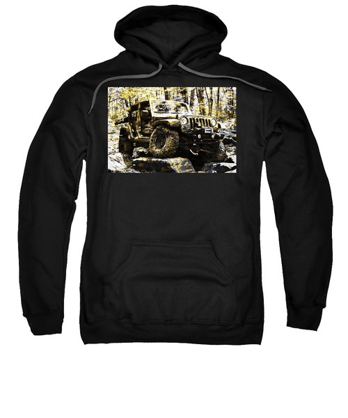 Silver And Gold Jeep Wrangler Jku Sweatshirt