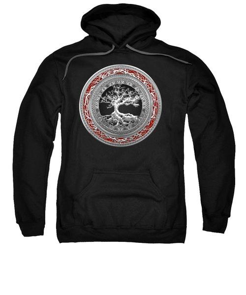 Silver Celtic Tree Of Life Sweatshirt