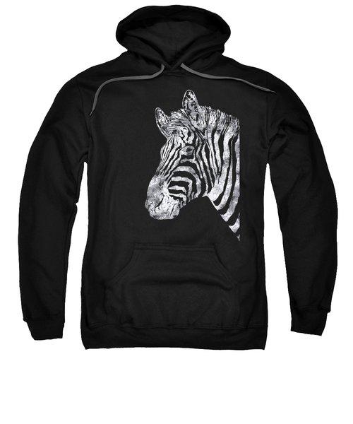 Silver Zebra, African Wildlife, Wild Animal In Silver Gilt Sweatshirt by Tina Lavoie
