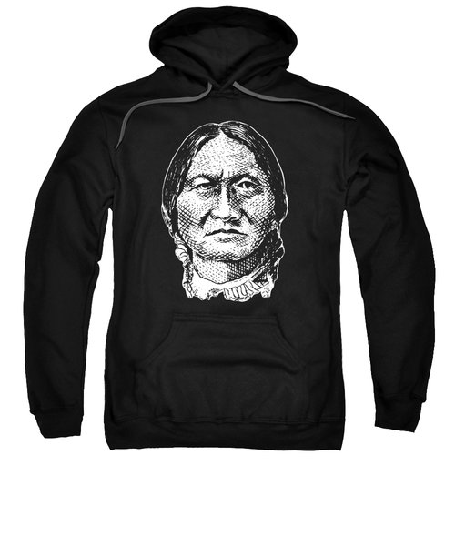 Sitting Bull Graphic - Black And White Sweatshirt by War Is Hell Store
