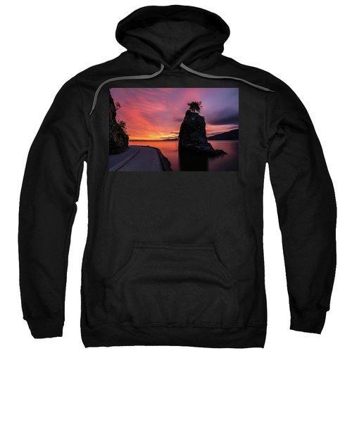 Siwash Rock Along The Sea Wall Sweatshirt