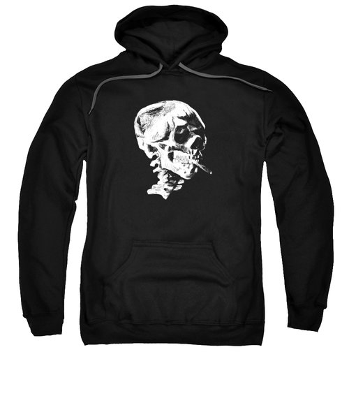 Skull Smoking A Cigarette Sweatshirt