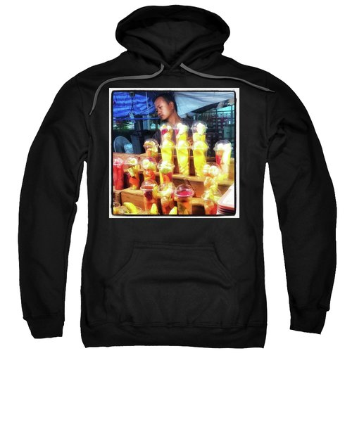 Sweatshirt featuring the photograph Smoothie Nirvana. Choose A Cup Of by Mr Photojimsf