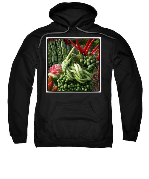 Sweatshirt featuring the photograph Snake Beans. At The Surin Elephant by Mr Photojimsf