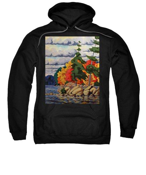 Snake Island In Fall-close Sweatshirt