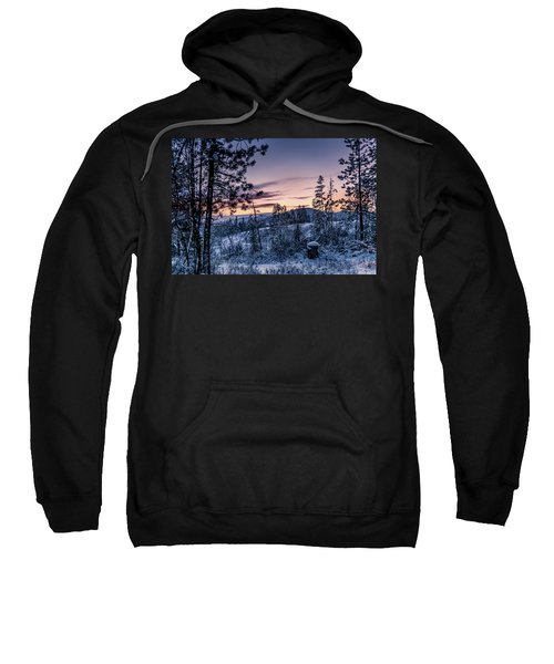 Snow Coved Trees And Sunset Sweatshirt