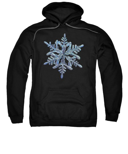 Snowflake Macro Photo - 13 February 2017 - 1 Black Sweatshirt